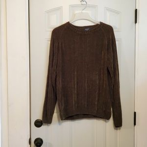 DOCKERS olive green chenille sweater L